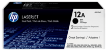 HP LaserJet Q2612A Dual Pack Black Print Cartridges