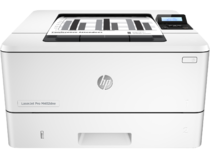 HP LaserJet Pro M402dne, Center, Front, with output