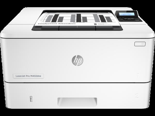 HP LaserJet Pro M402dne, Center, Front, with output
