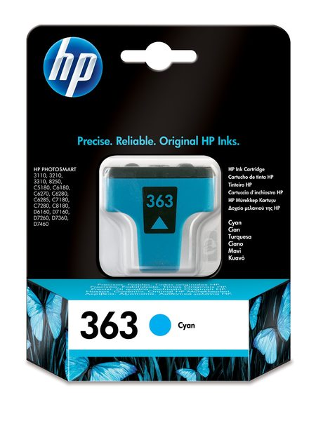 HP 363 Cyan Ink Cartridge