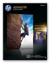 HP Advanced Glossy Photo Paper-25 sht/13 x 18 cm borderless