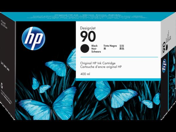 HP 90 400-ml Black DesignJet Ink Cartridge, WW