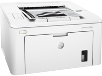 HP LaserJet Pro M203dw, Right facing, with output