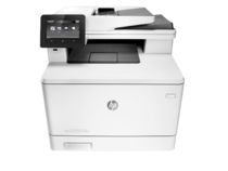 HP Color LaserJet Pro M477fdn Printer, center facing