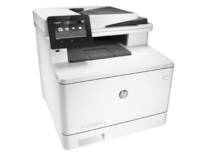 HP Color LaserJet Pro M477fdn Printer, right facing