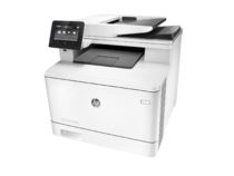 HP Color LaserJet Pro M477fdn Printer, left facing