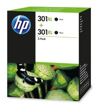 HP 301XL 2-pack High Yield Black Original Ink Cartridges