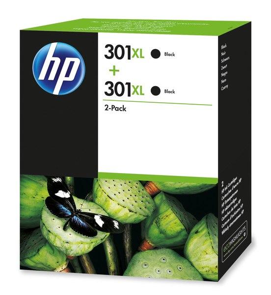 HP 301XL 2-pack High Yield Black Original Ink Cartridges
