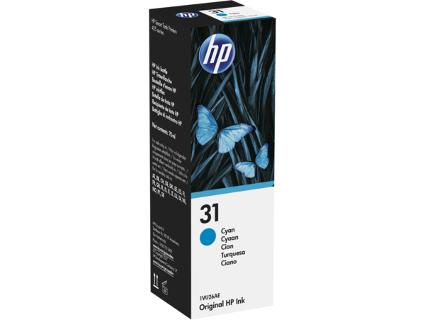 EMEA version - HP 31 Cyan Original Ink