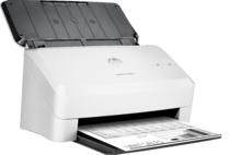 HP ScanJet Pro 3000 s3 sheet-feed Scanner, Right facing, with output