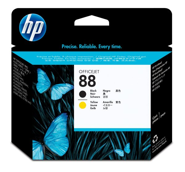 HP 88 Black and Yellow Printhead