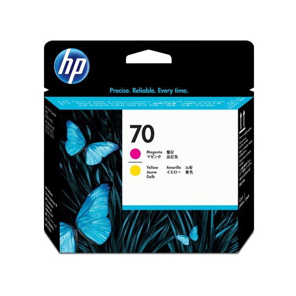 HP 70 Magenta and Yellow Printhead