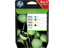 HP 953XL 4-pack Black/Cyan/Magenta/Yellow Ink Cartridge - EMEA