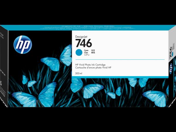 HP 746 300-ml Cyan DesignJet Ink Cartridge