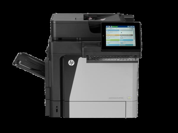HP LaserJet Enterprise Flow MFP M630h, with keyboard, center view, no output