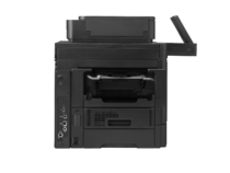 HP LaserJet Enterprise Flow MFP M630h, with keyboard, detai view, interface