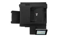 HP LaserJet Enterprise Flow MFP M630h, with keyboard, aerial view, no output