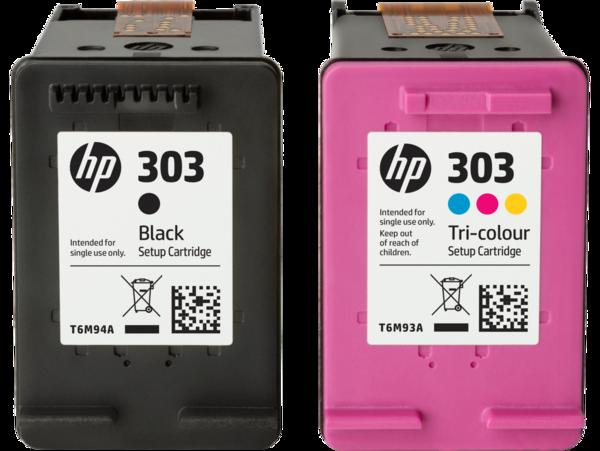 HP Ink Cartridge 303 Setup Tri-color and Black