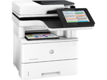 LaserJet Managed MFP M527m, Right facing, with output