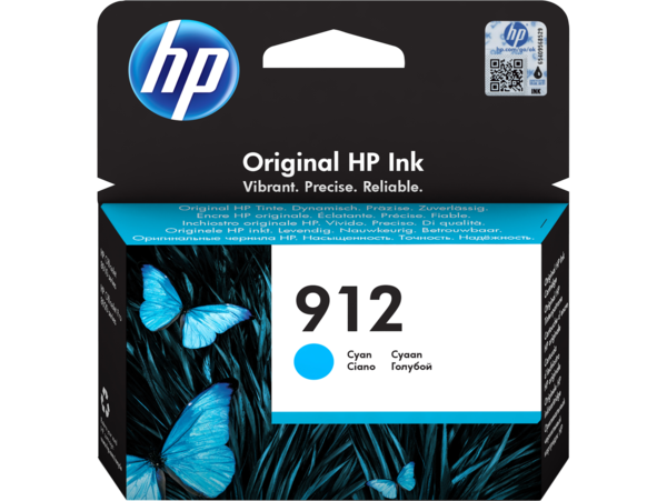 HP 912 Cyan Ink Cartridge BGX - EMEA