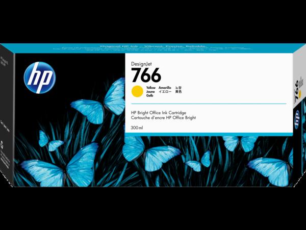 HP 766 300-ml Yellow DesignJet Ink Cartridge