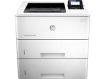 HP LaserJet Enterprise M506 with one additional tray, Center, Front, no output