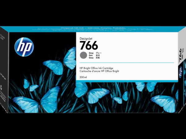 HP 766 300-ml Gray DesignJet Ink Cartridge