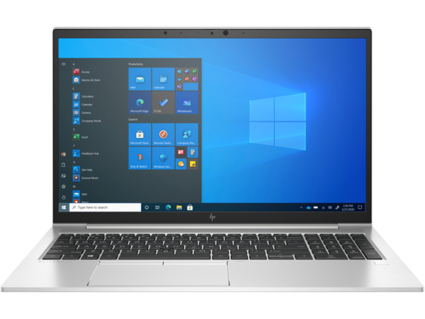 HP EliteBook 855 G8 (15, NaturalSilver, Thin, WLAN, ALS-SKU, NT, IRCam, FPR, nonODD, Win10) Front