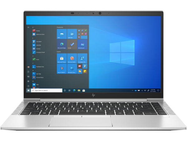 HP EliteBook 845 G8 (14, NaturalSilver, Thin, WLAN, ALS-SKU, NT, IRCam, FPR, nonODD, Win10) Front