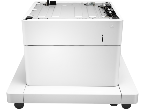 HP LaserJet 1x550-sheet paper feeder with cabinet